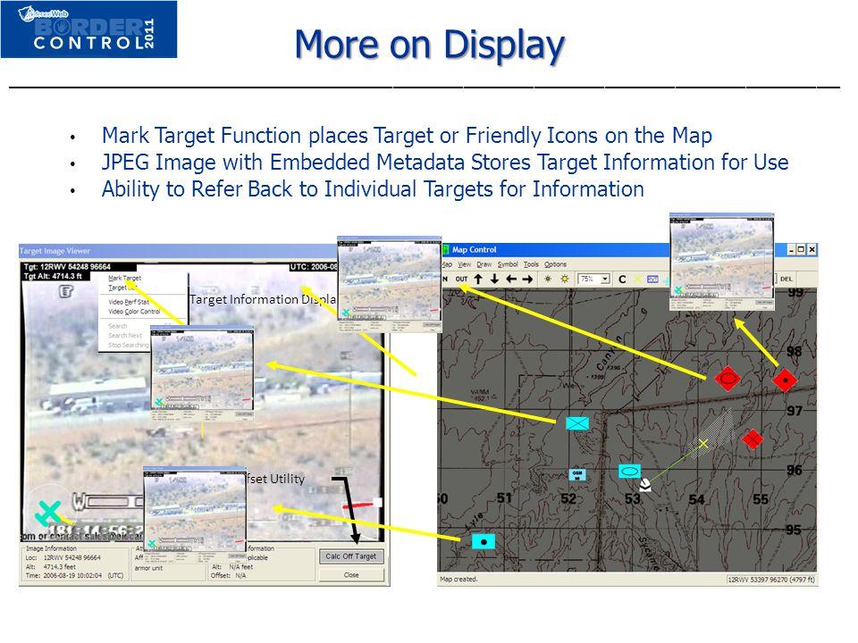 Target Information Displayed