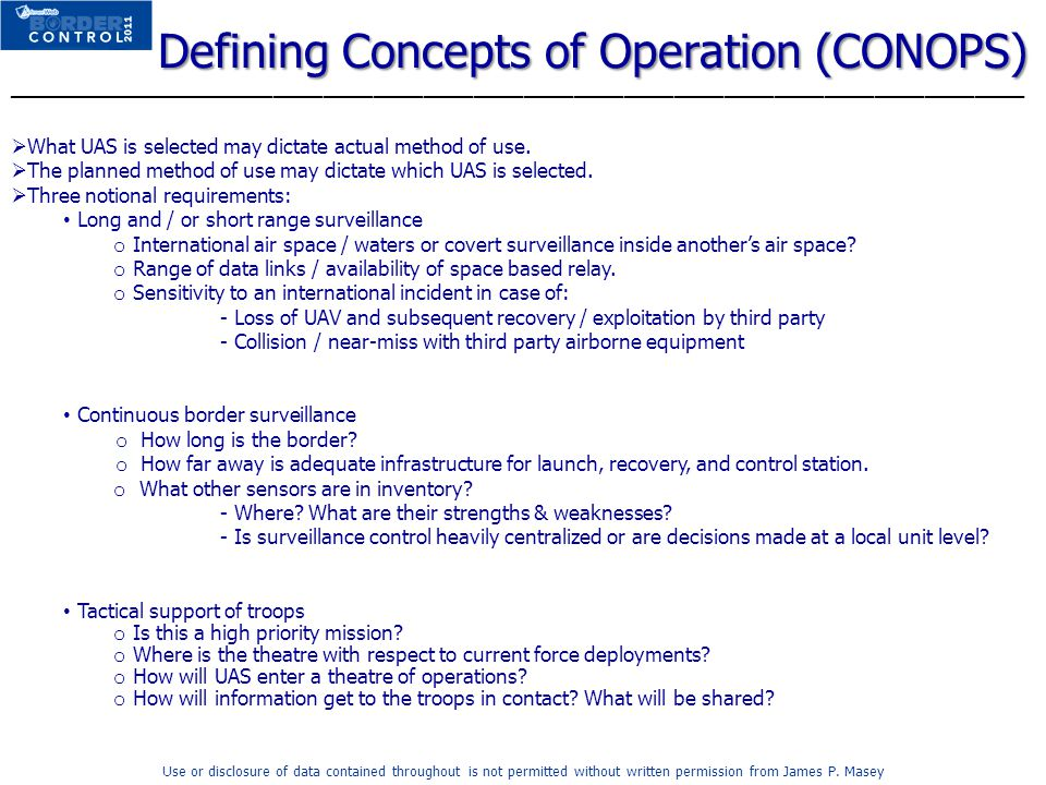 Defining Concepts of Operation (CONOPS)