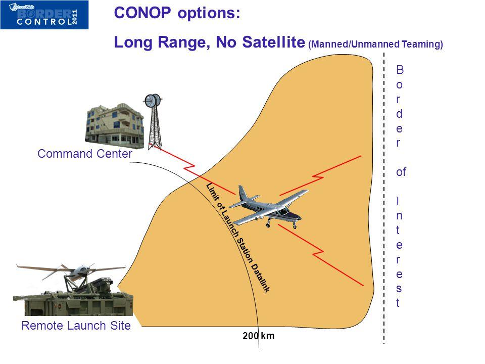 Long Range, No Satellite (Manned/Unmanned Teaming)