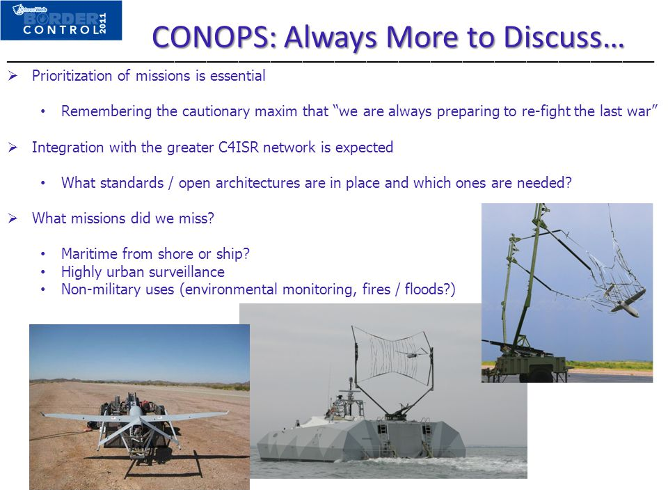 CONOPS: Always More to Discuss…
