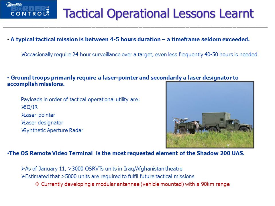 Tactical Operational Lessons Learnt