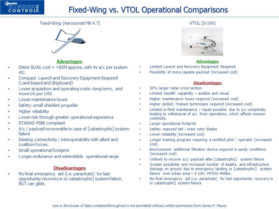 Fixed-Wing vs. VTOL Operational Comparisons