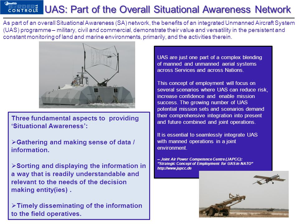 UAS: Part of the Overall Situational Awareness Network