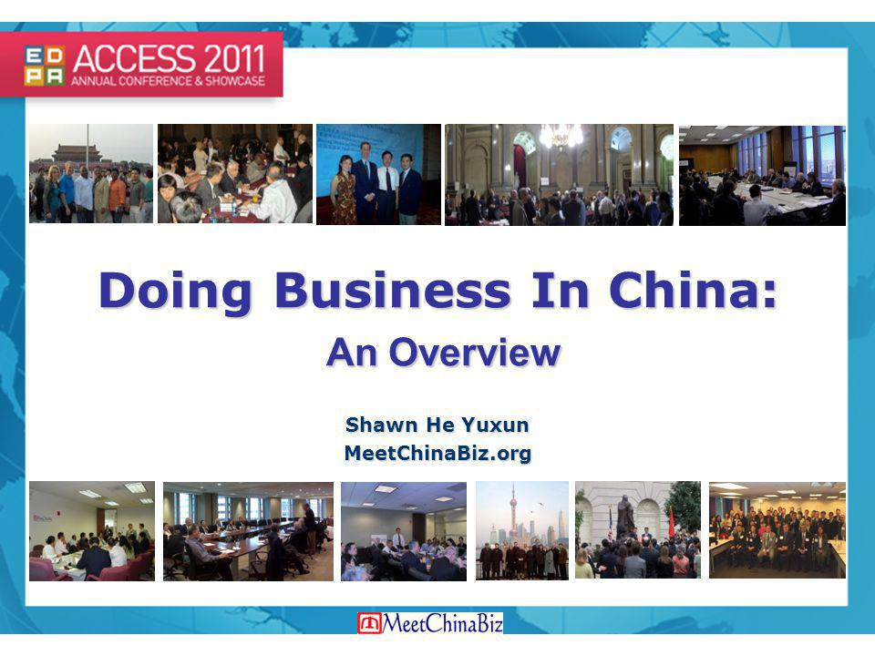 Doing Business In China: An Overview