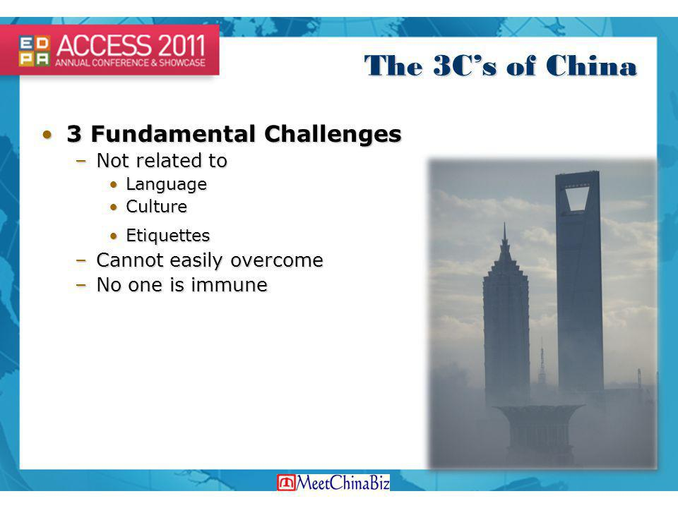 The 3C's of China 3 Fundamental Challenges Not related to