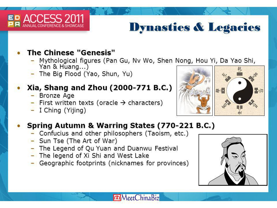 Dynasties & Legacies The Chinese Genesis