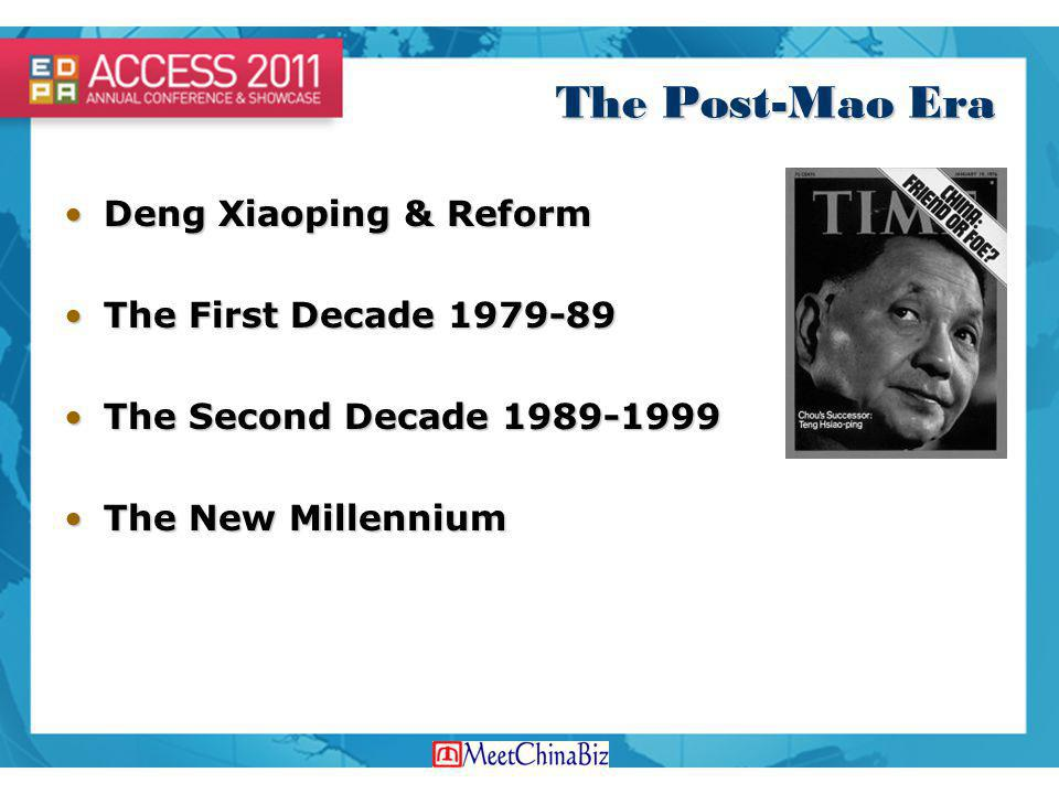 The Post-Mao Era Deng Xiaoping & Reform The First Decade 1979-89