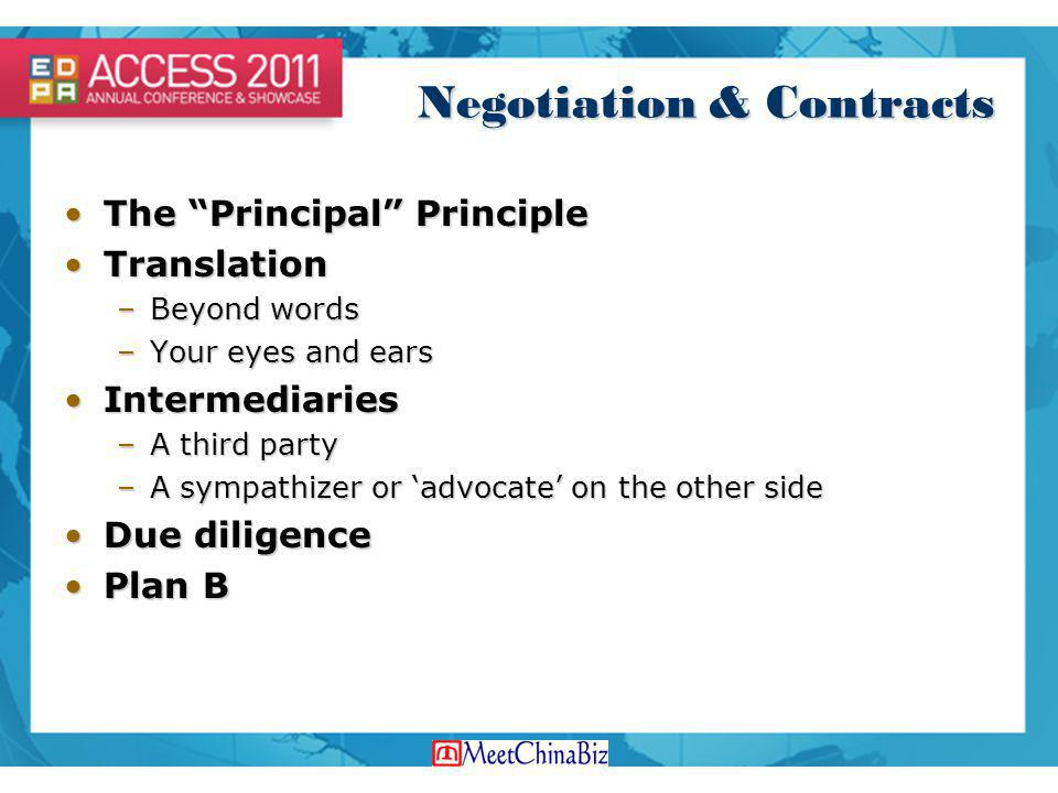 Negotiation & Contracts