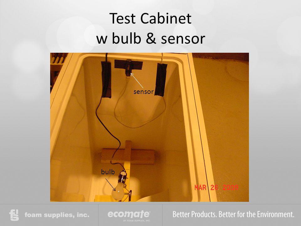 Test Cabinet w bulb & sensor