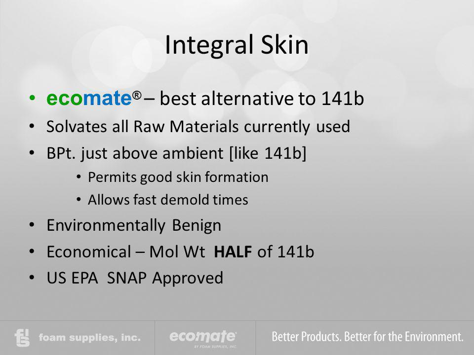 Integral Skin ecomate® – best alternative to 141b