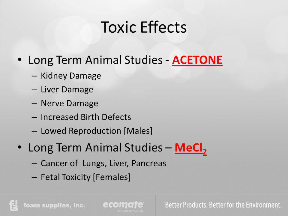 Toxic Effects Long Term Animal Studies - ACETONE