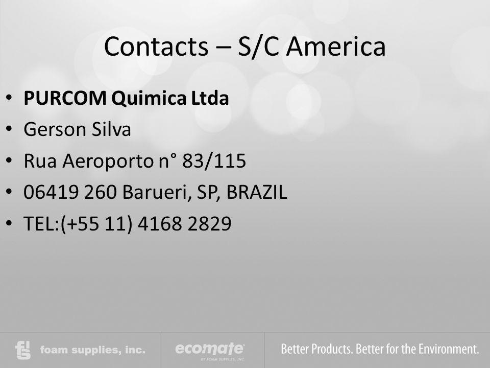 Contacts – S/C America PURCOM Quimica Ltda Gerson Silva