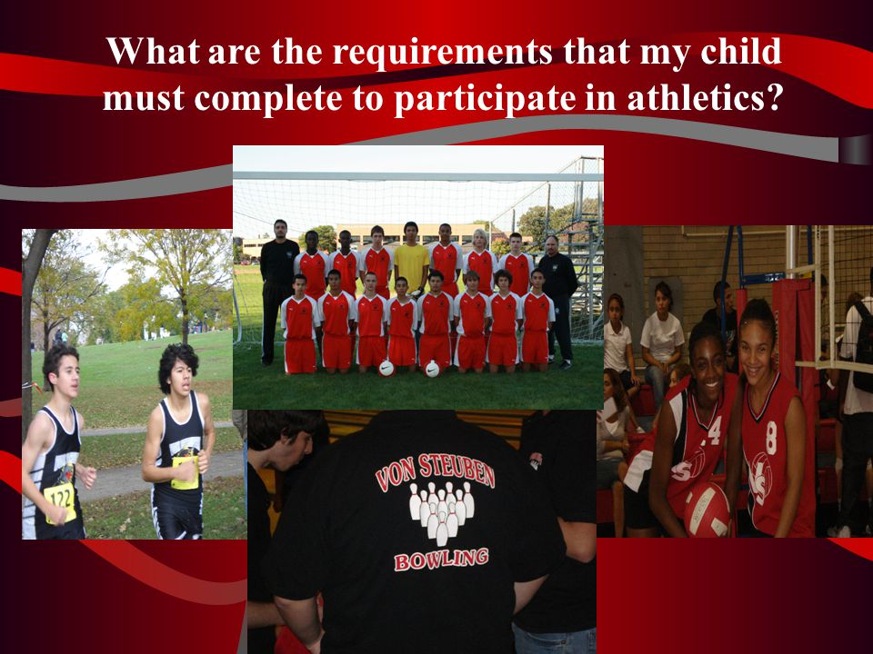 What are the requirements that my child must complete to participate in athletics