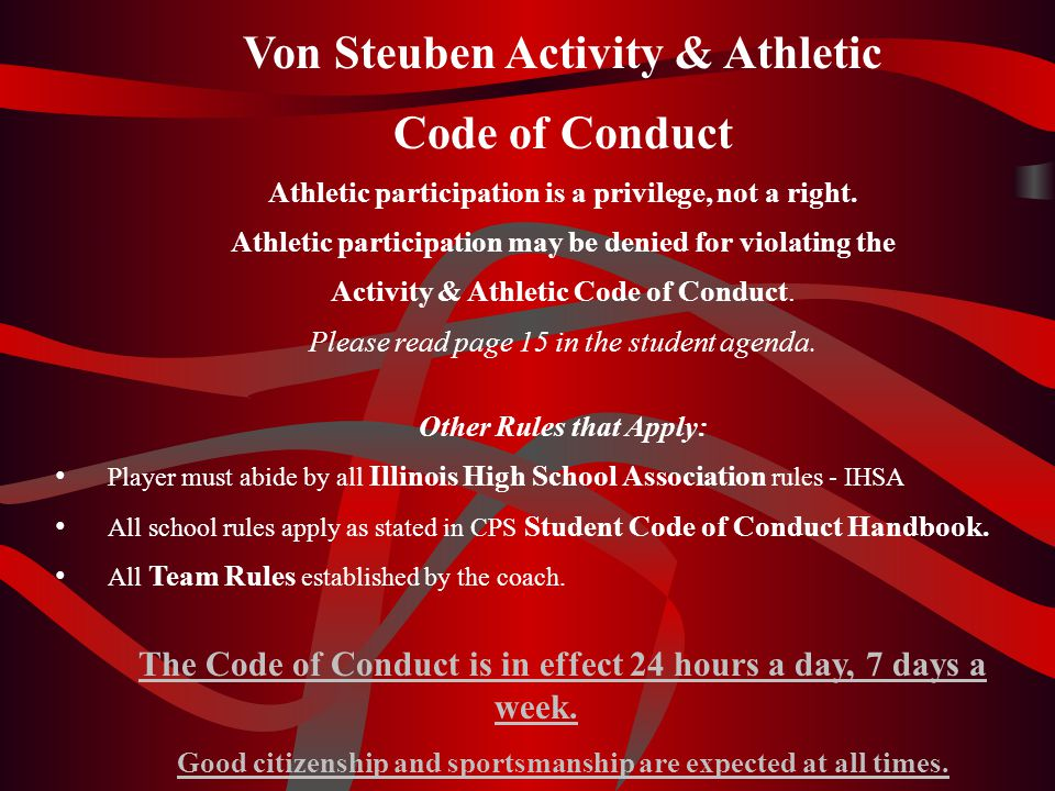 Von Steuben Activity & Athletic Code of Conduct