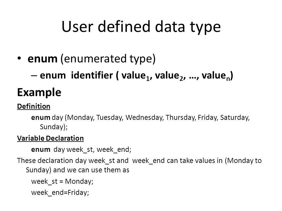 enum data type in c pdf