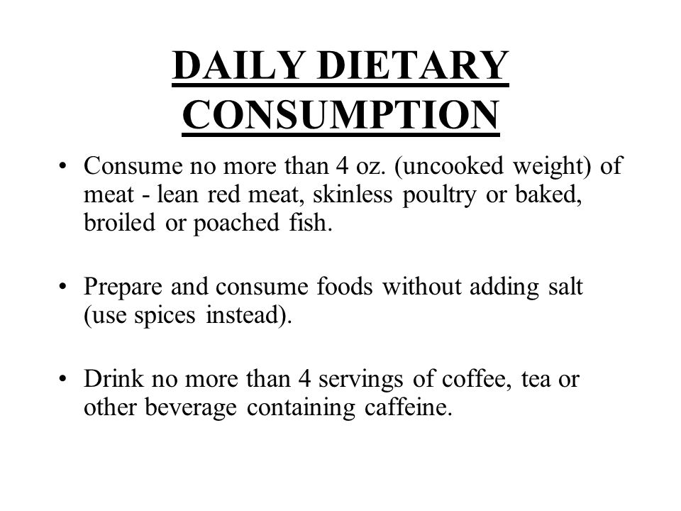 DAILY DIETARY CONSUMPTION