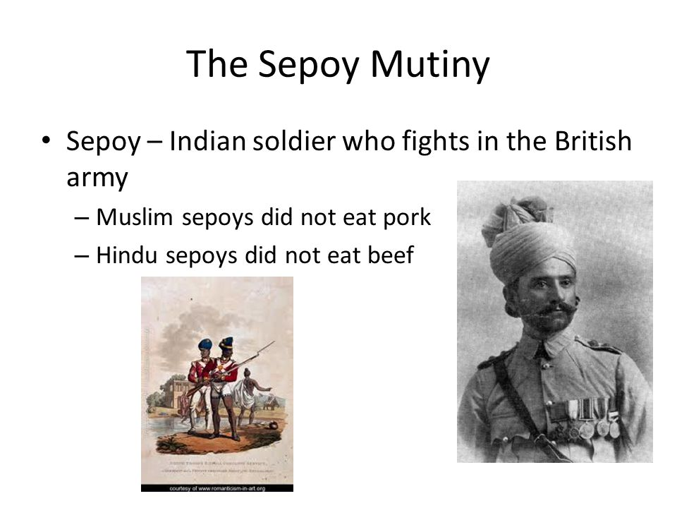 The Sepoy Mutiny Sepoy – Indian soldier who fights in the British army