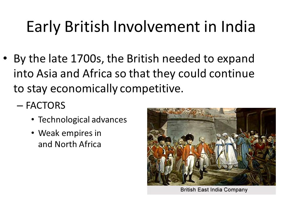 Early British Involvement in India