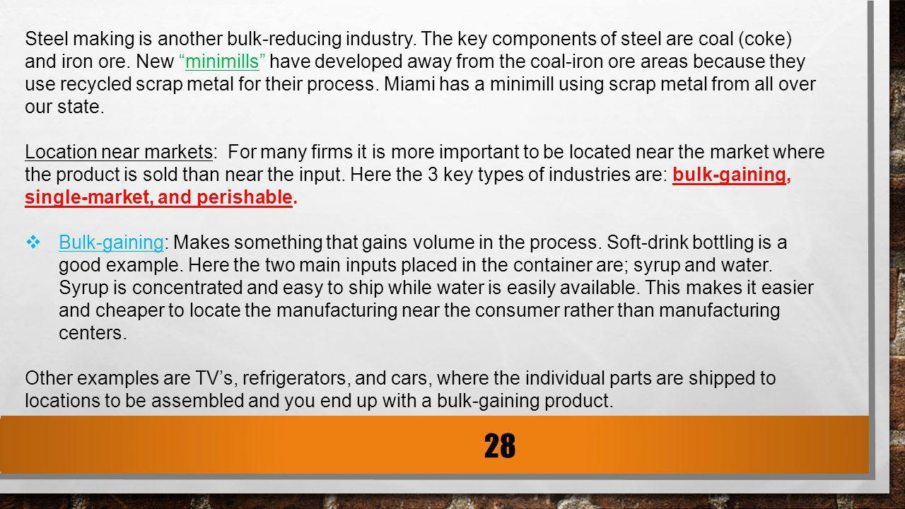 Is Soft Drink Bottling Bulk Reducing