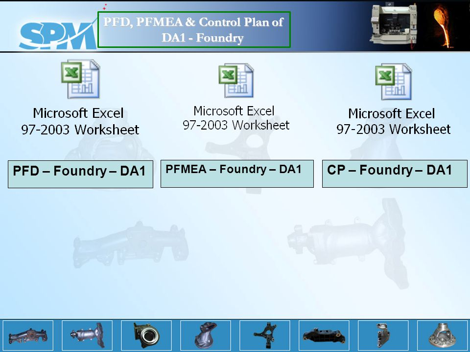 PFD, PFMEA & Control Plan of DA1 - Foundry