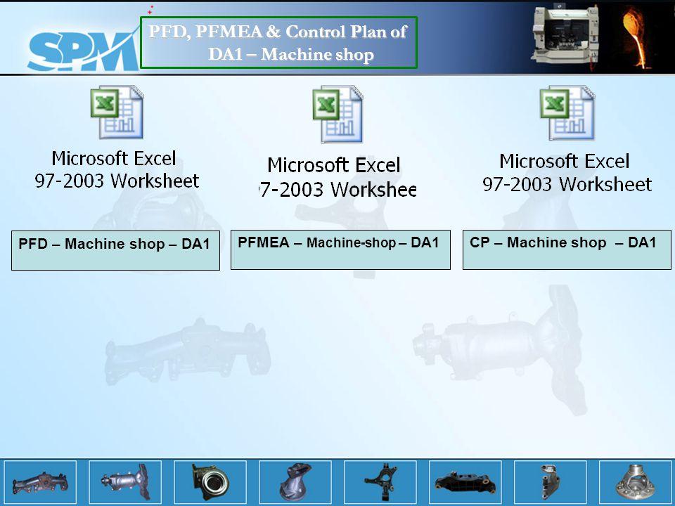 PFD, PFMEA & Control Plan of DA1 – Machine shop