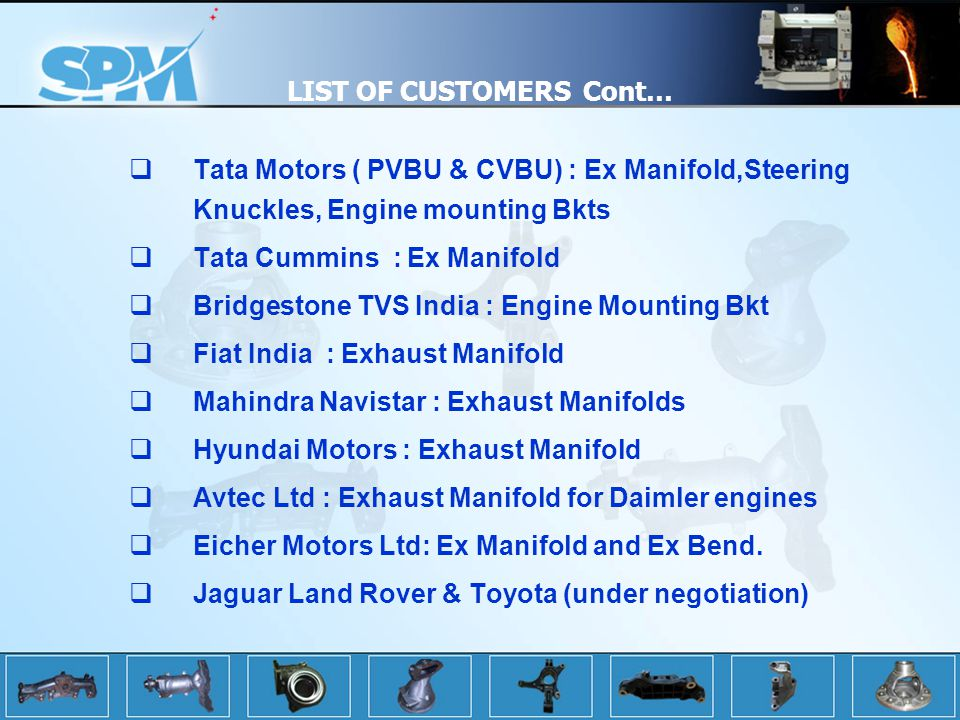LIST OF CUSTOMERS Cont…