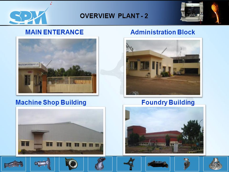 OVERVIEW PLANT - 2 MAIN ENTERANCE Administration Block Machine Shop Building Foundry Building