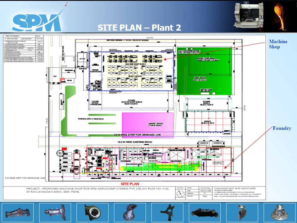 SITE PLAN – Plant 2 Machine Shop Foundry