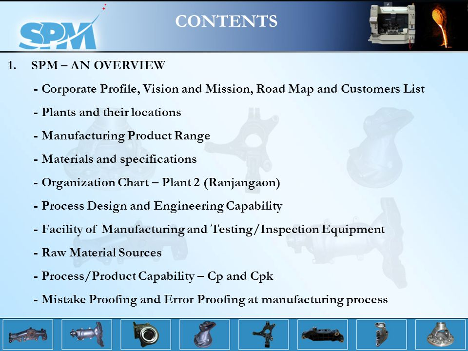 CONTENTS SPM – AN OVERVIEW