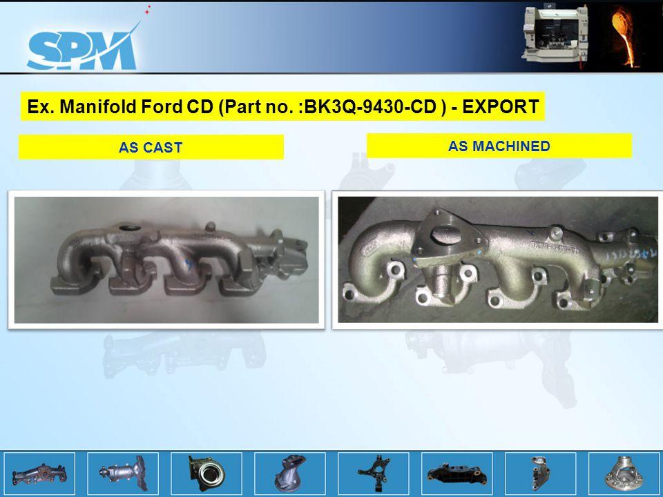 Ex. Manifold Ford CD (Part no. :BK3Q-9430-CD ) - EXPORT