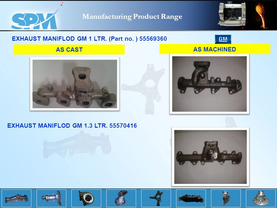 Manufacturing Product Range