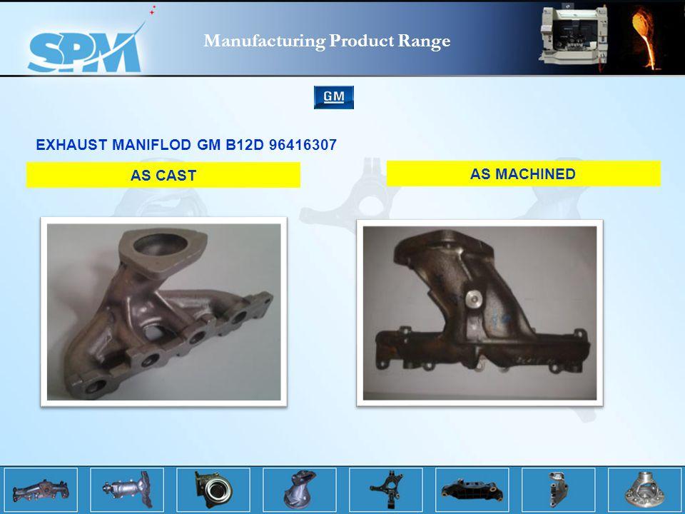 Manufacturing Product Range