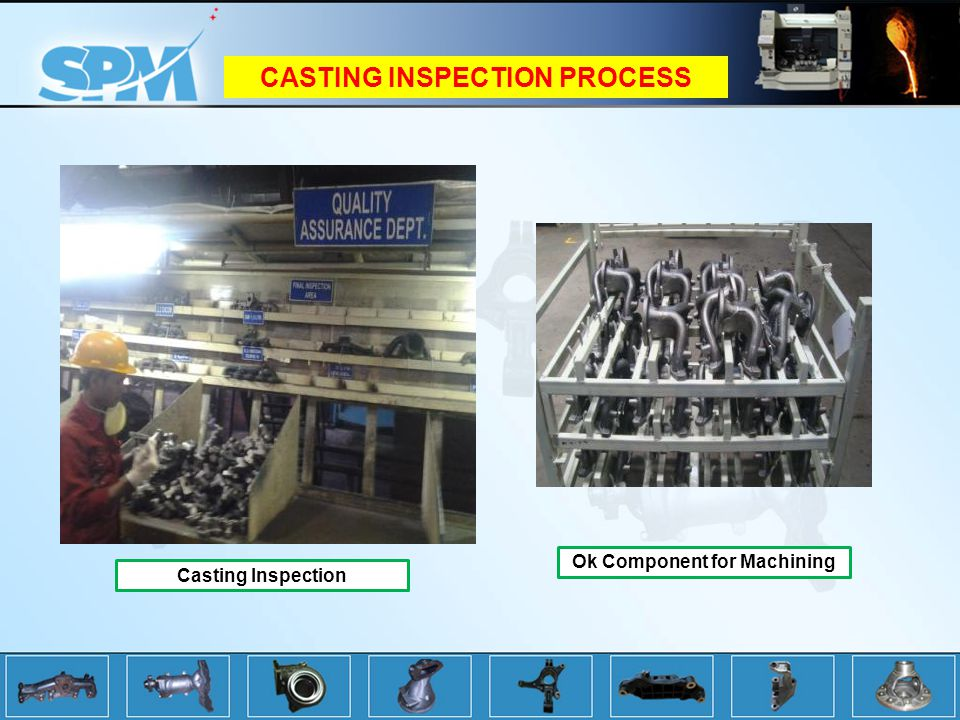 CASTING INSPECTION PROCESS Ok Component for Machining