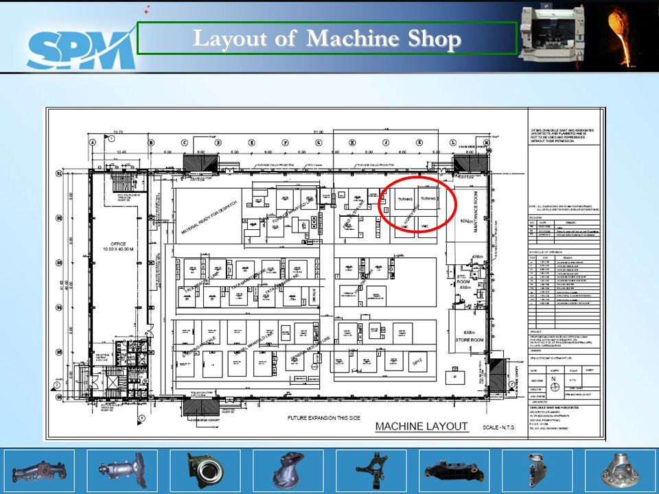 Layout of Machine Shop
