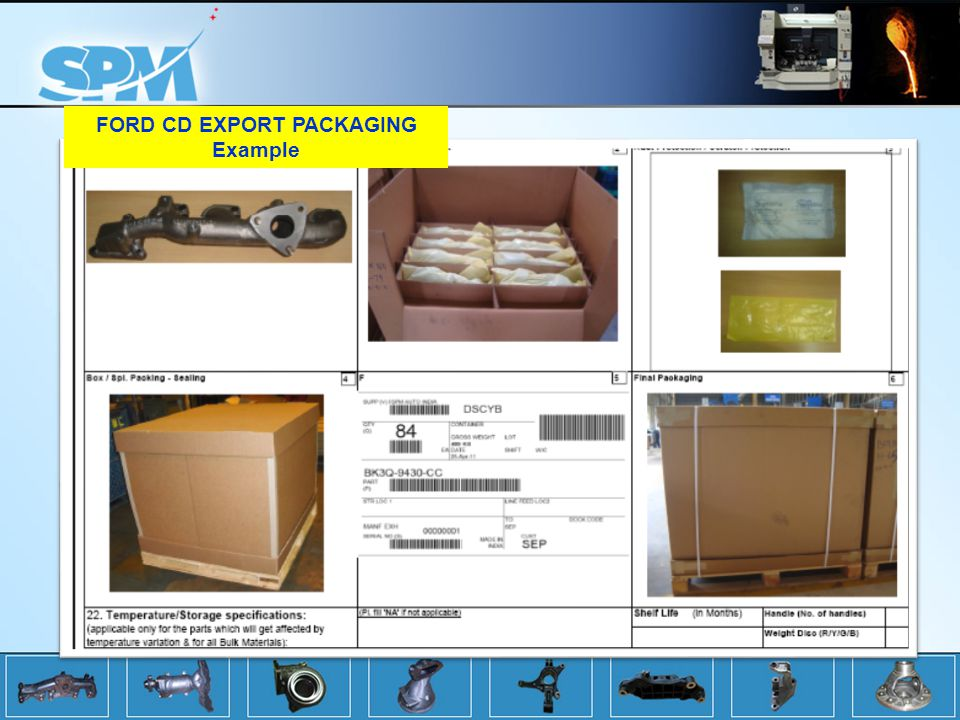 FORD CD EXPORT PACKAGING Example