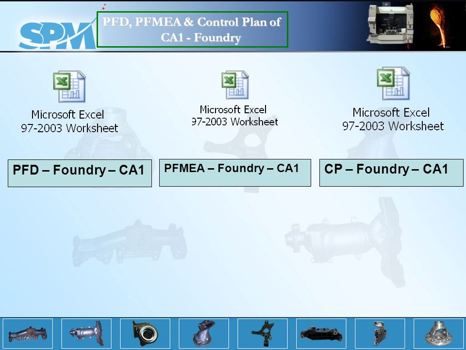 PFD, PFMEA & Control Plan of CA1 - Foundry