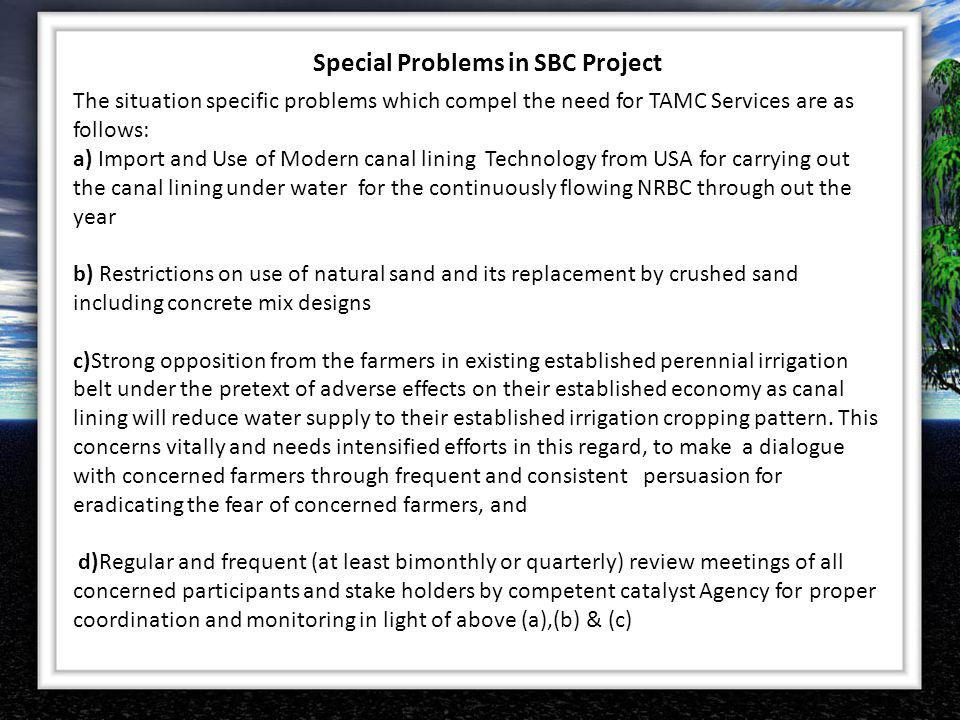 Special Problems in SBC Project