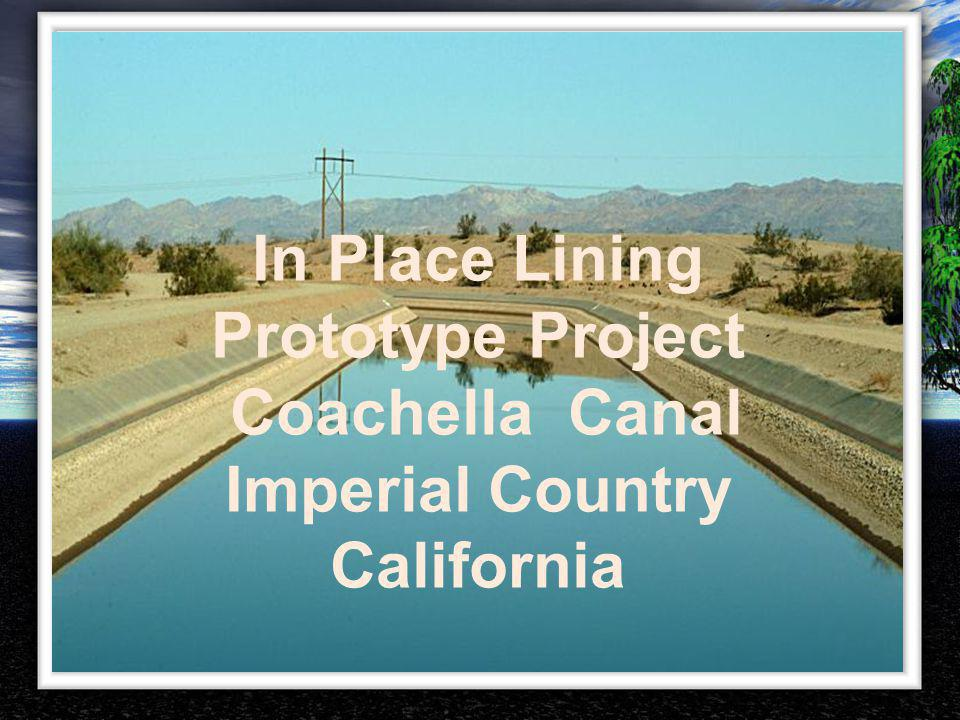 In Place Lining Prototype Project Imperial Country California