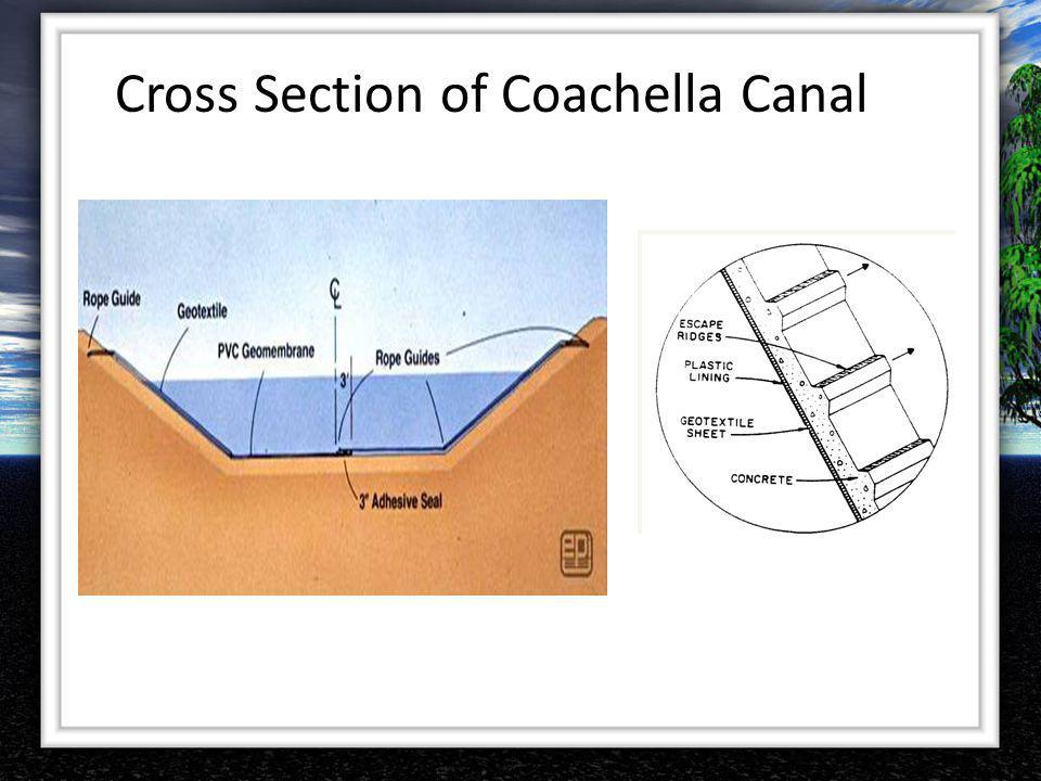 Cross Section of Coachella Canal