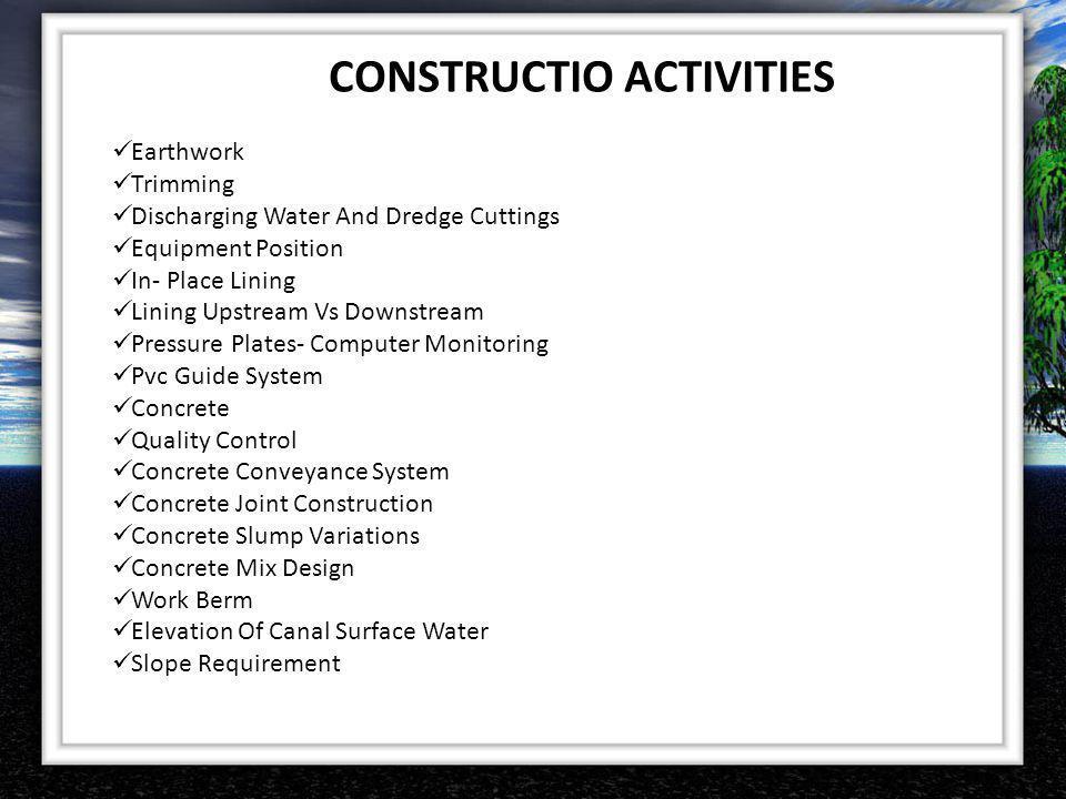 CONSTRUCTIO ACTIVITIES