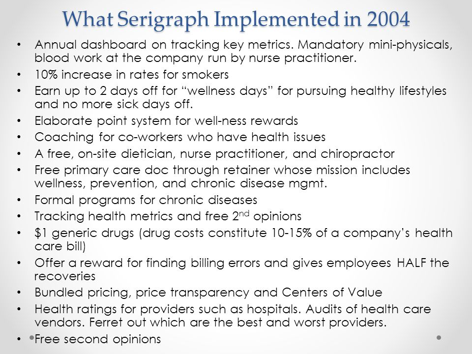 What Serigraph Implemented in 2004