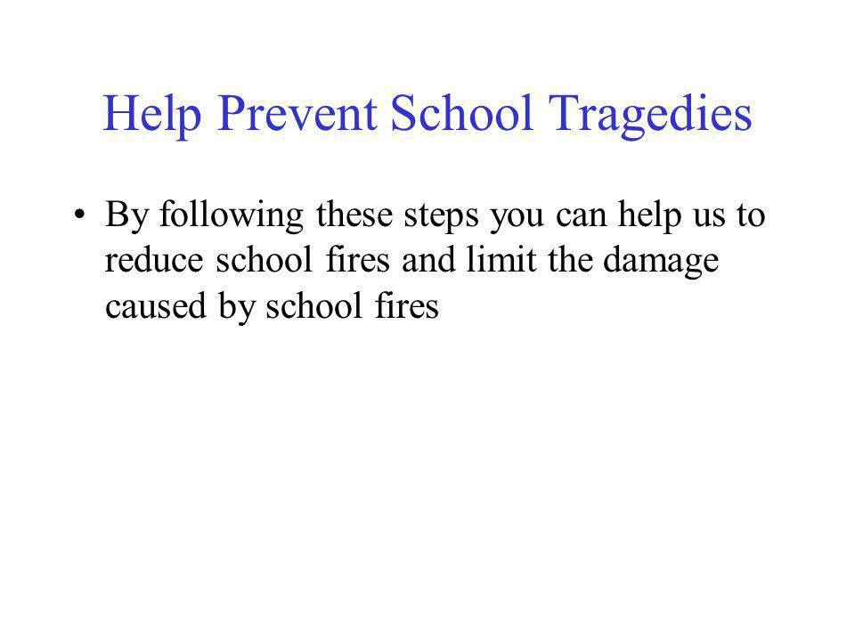 Help Prevent School Tragedies