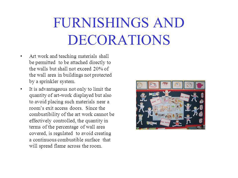 FURNISHINGS AND DECORATIONS