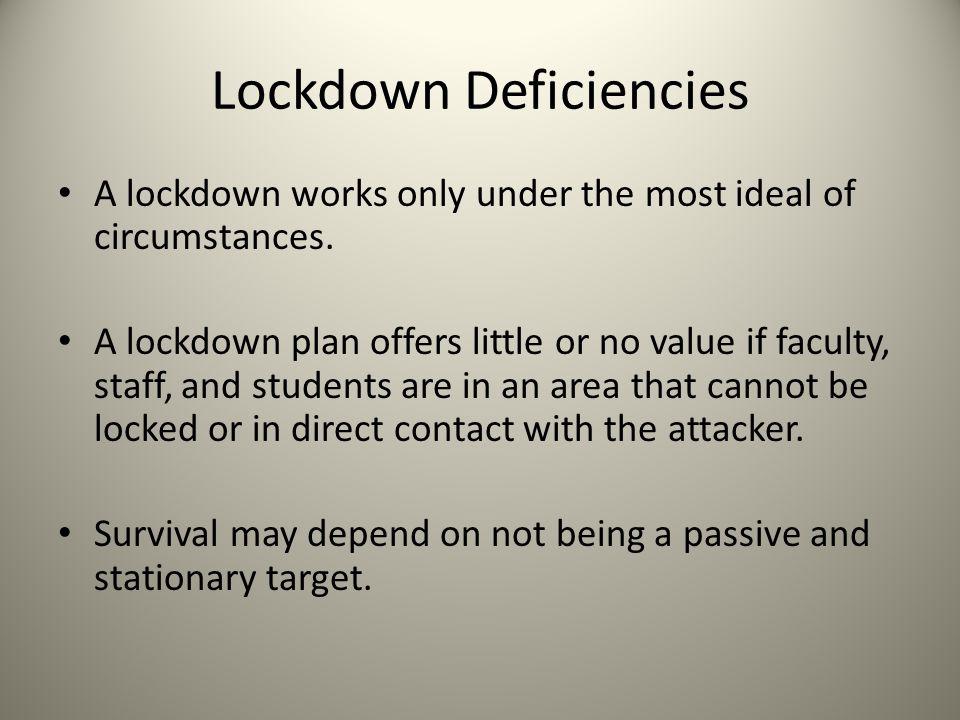 Lockdown Deficiencies