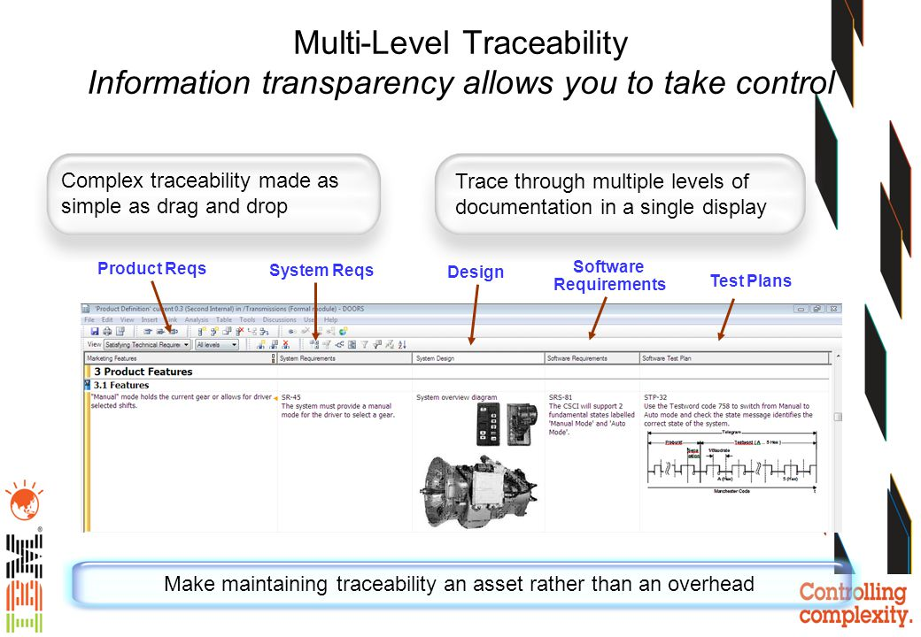Make maintaining traceability an asset rather than an overhead