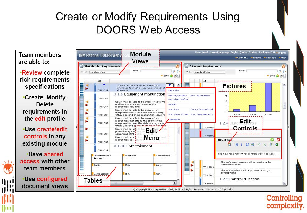 Create or Modify Requirements Using DOORS Web Access