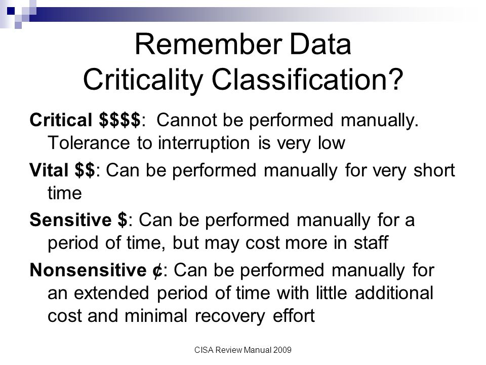 Remember Data Criticality Classification