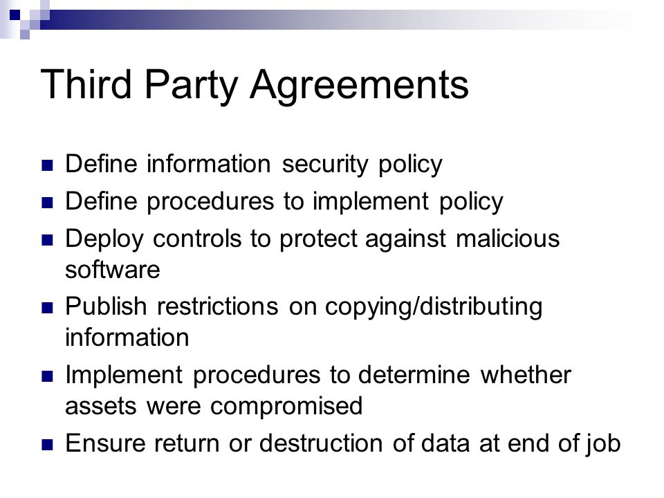 Third Party Agreements