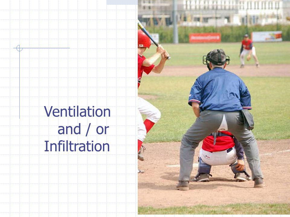 Ventilation and / or Infiltration