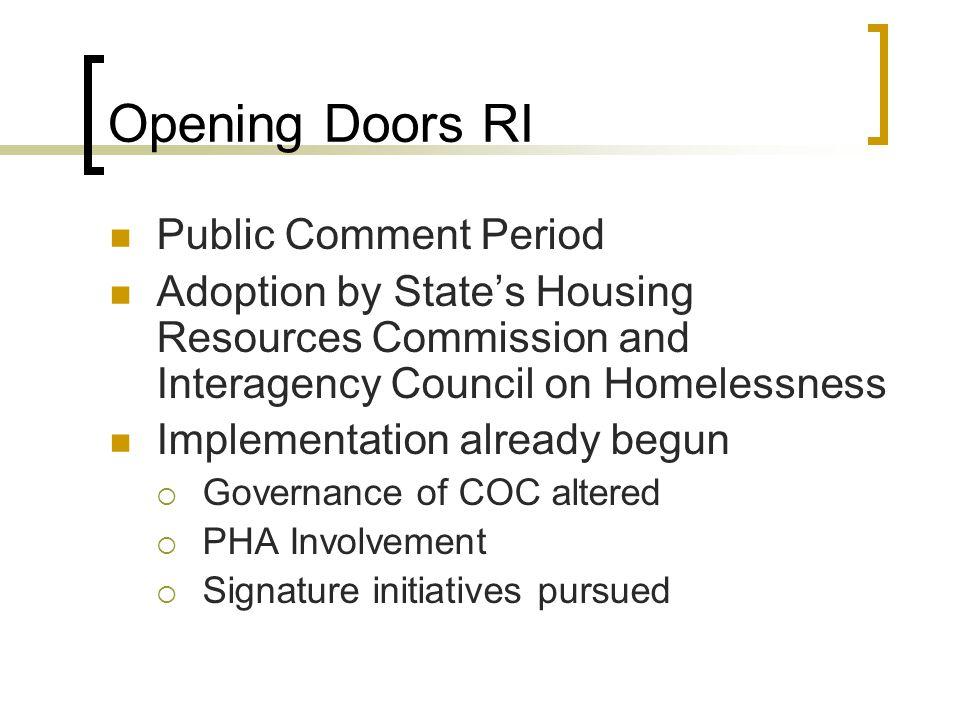 Opening Doors RI Public Comment Period